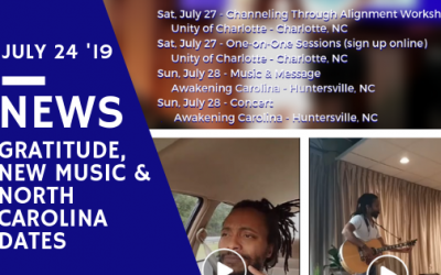 New Songs, Gratitude & Return to North Carolina