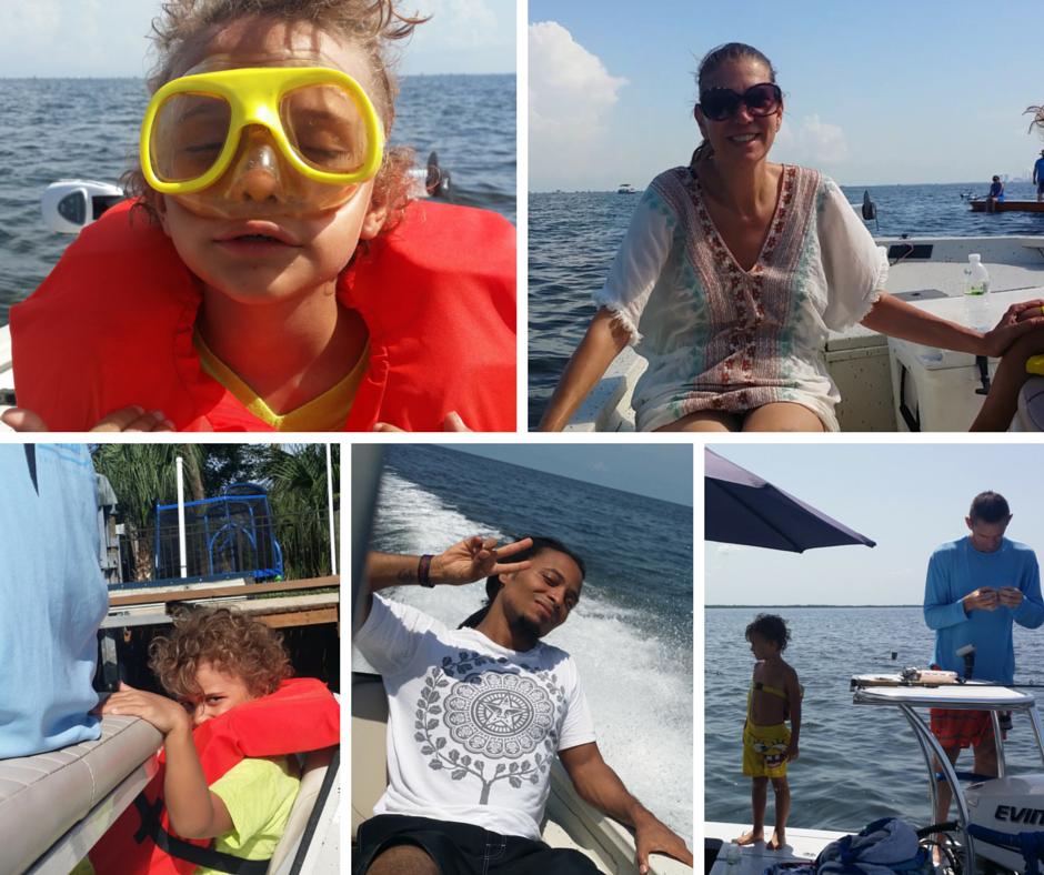 Crystal Lake on  boat