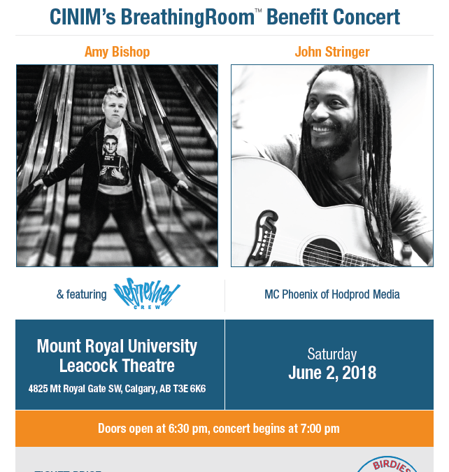 John Stringer Joins CINIM's BreathingRoom benefit concert on June 2