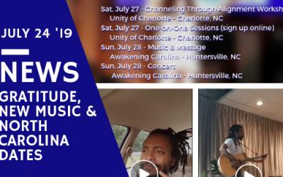 New Songs, Gratitude & Return to North Carolina