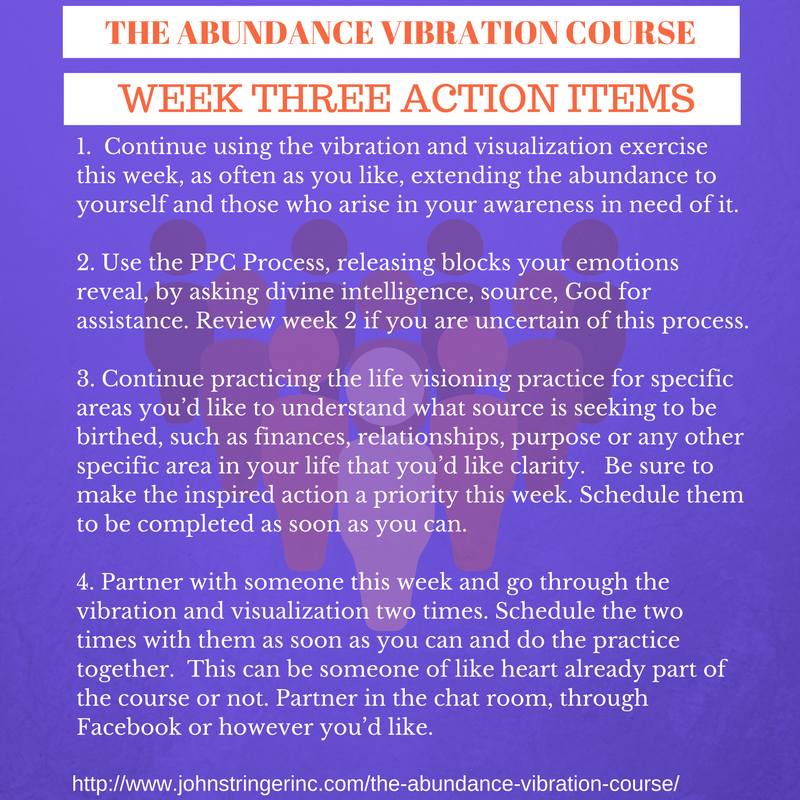 The Abundance Vibration Course - Week One Action Items